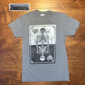 ☠️ Y2K Vintage DETAILED Skulls tee Skeleton shirt